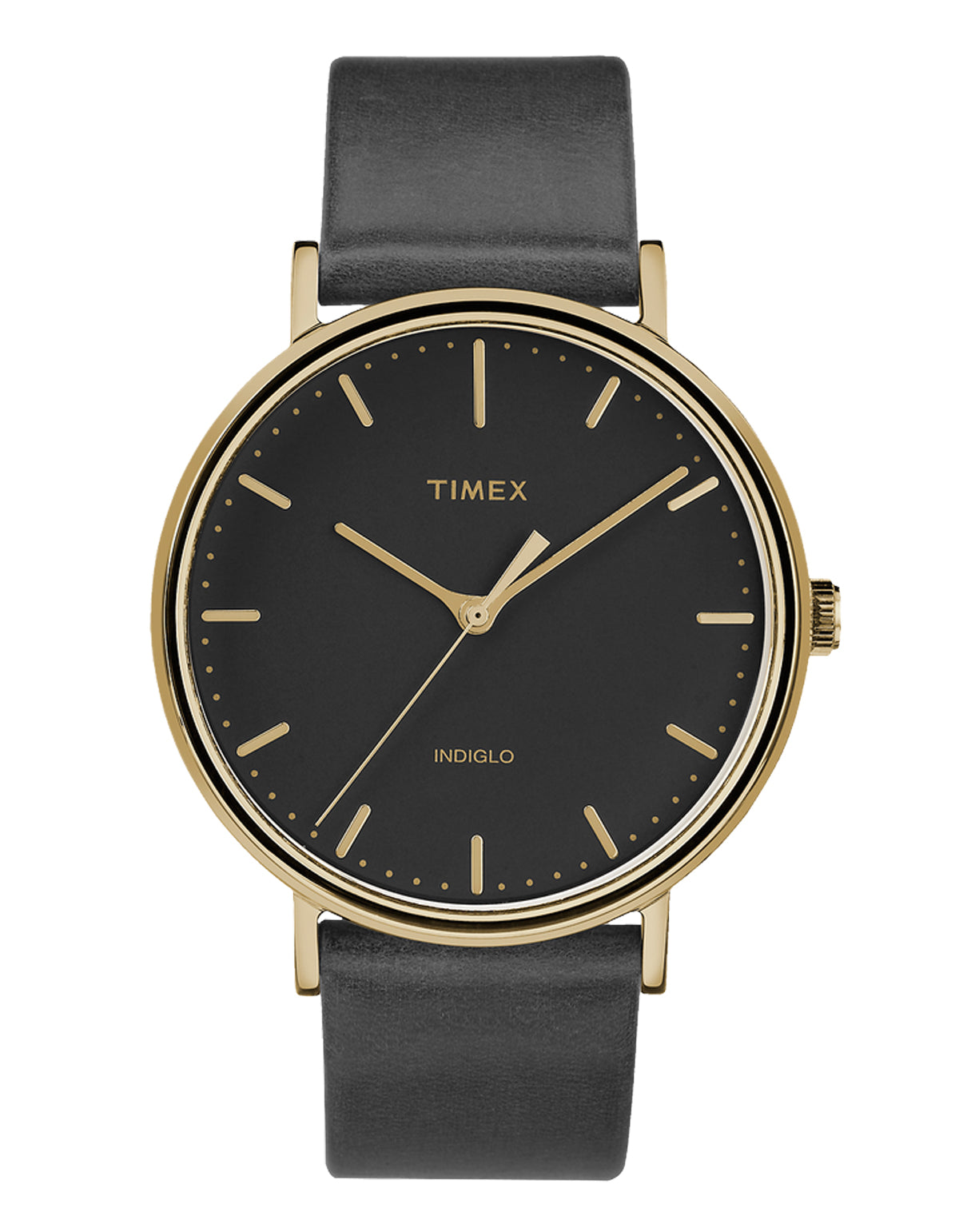 Timex The Fairfield Watch Gold-Tone Black