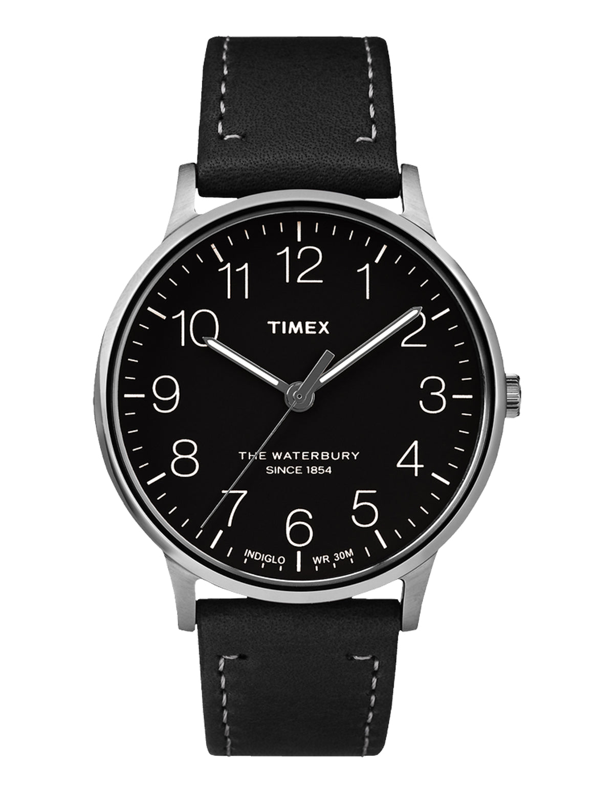 Timex Waterbury Heritage Watch Chrome Black Black