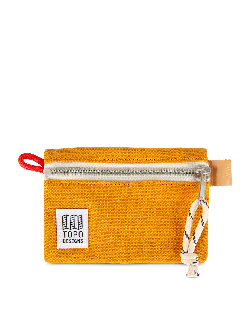Topo Designs Accessory Bag Micro Mustard Canvas