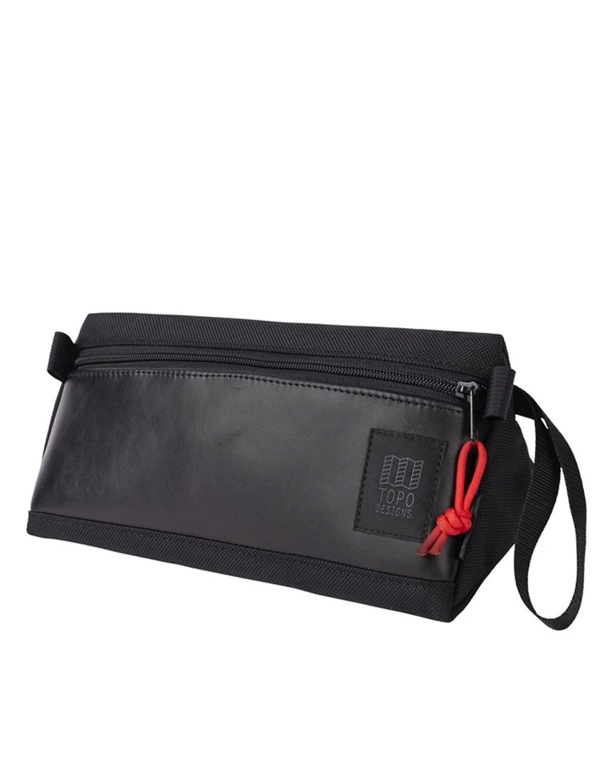 Topo Designs Dopp Kit Ballistic Black/Black Leather