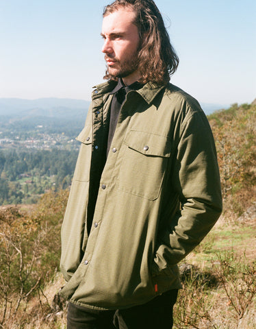 Topo Designs Men's Insulated Shirt Jacket Olive