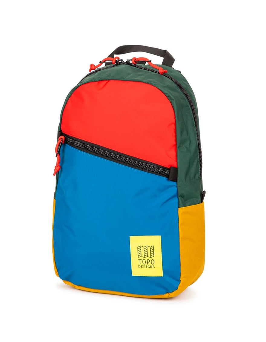 Topo Designs Light Pack in Blue/Red/Forest