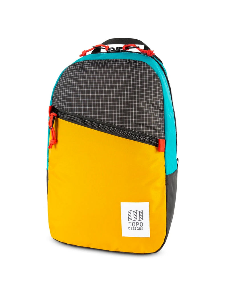 Topo Designs Light Pack in Mustard/Ripstop/Turquoise