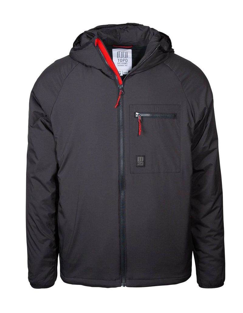 Topo Designs Men's Puffer Hoodie Black