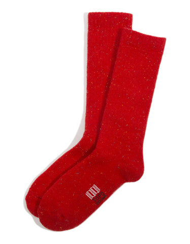 Topo Designs Mountain Sock Red