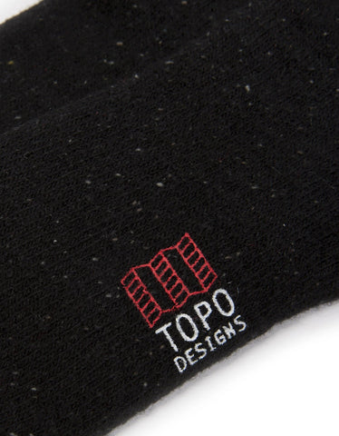 Topo Designs Mountain Sock Black