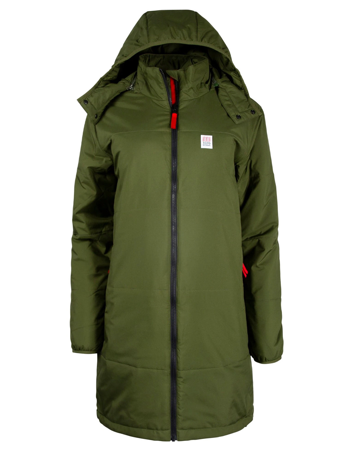 Topo Designs Women's Puffer Parka Olive