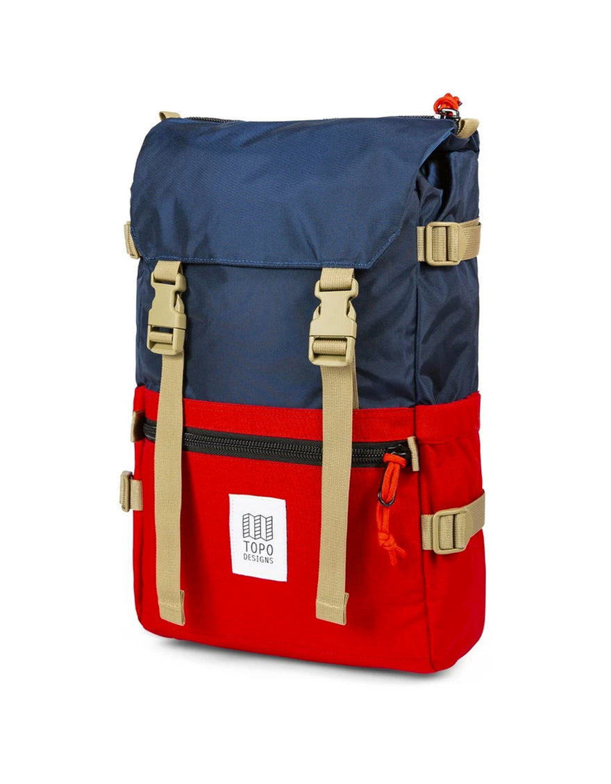 Topo Designs Rover Pack in Navy/Red