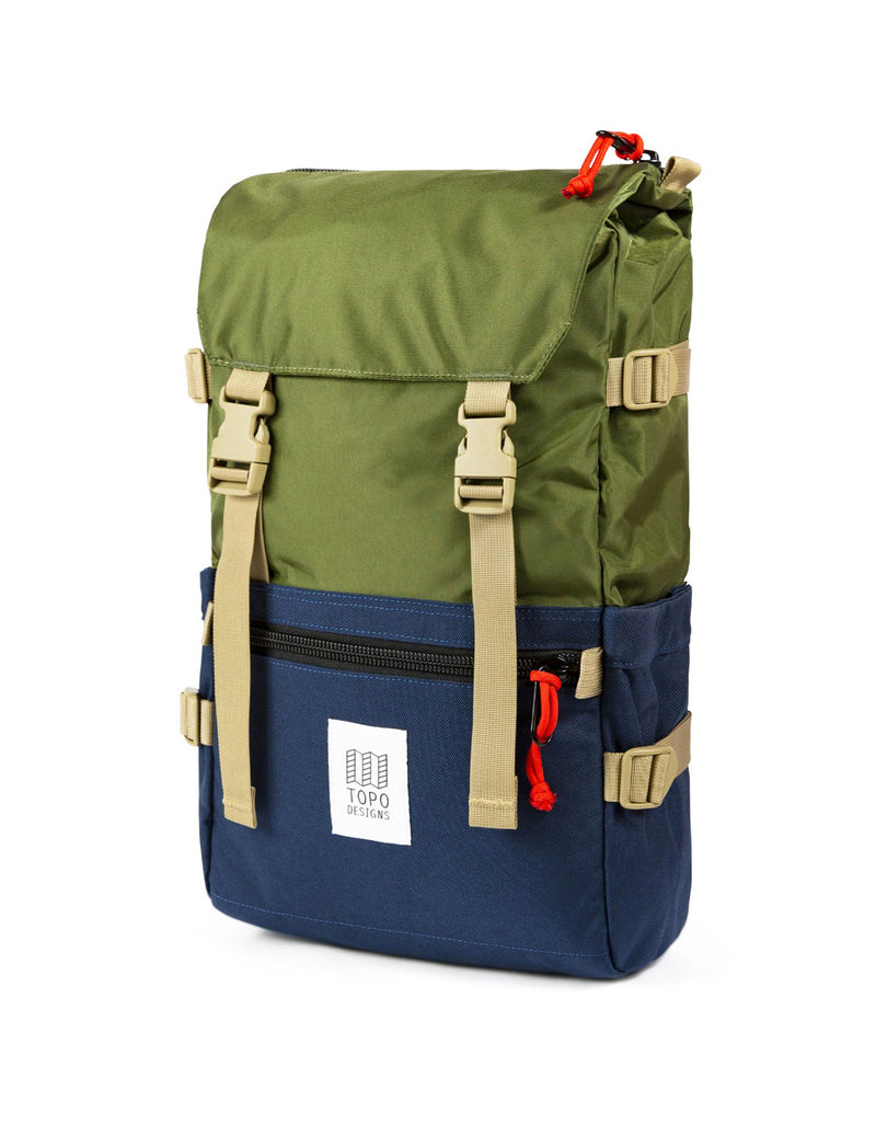 Topo Designs Rover Pack in Olive/Navy