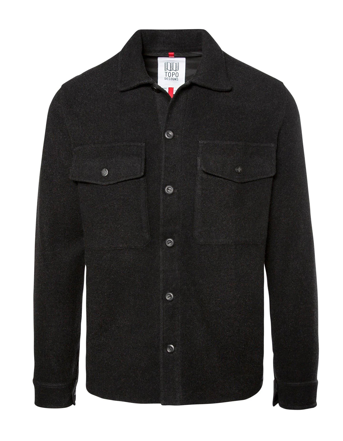 Topo Designs Men's Wool Shirt Black