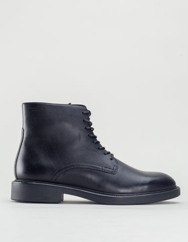 Vagabond Alex Leather Lace-Up Boot Black