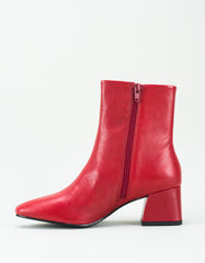 Vagabond Alice Leather Boot Deep Red