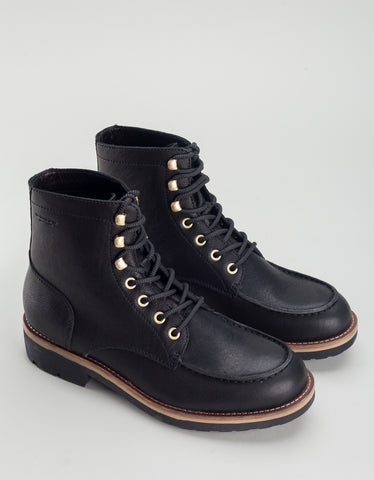Vagabond Bruce Leather Lace-Up Boot Black