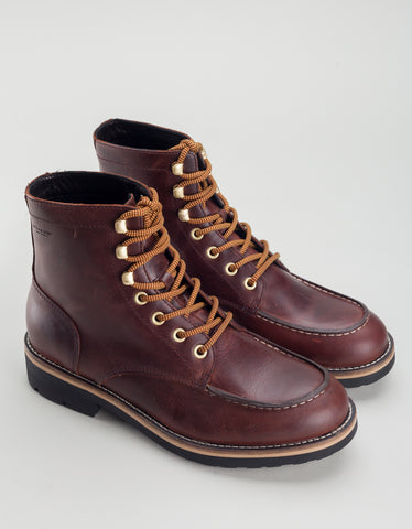 Vagabond Bruce Leather Lace-Up Boot Dark Brandy