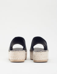 Vagabond Celeste Leather Espadrille Black