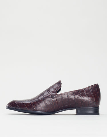 Vagabond Frances Croc Loafer Brown