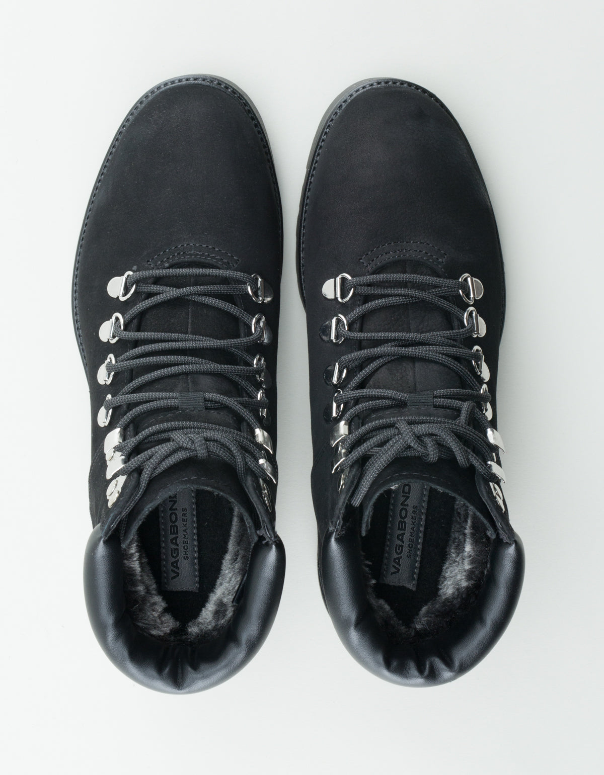 Vagabond Kenova Nubuck Lace-Up Hiking Boot Black