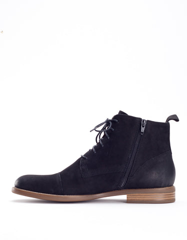 Vagabond Salvatore Lace-Up Boot Black Nubuck
