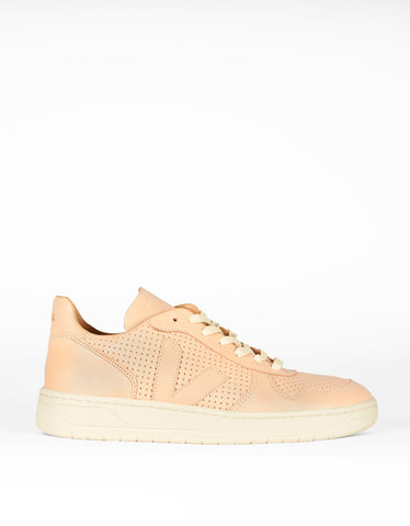 Veja Bastille V-10 Leather Sneaker Nude - Still Life - 1