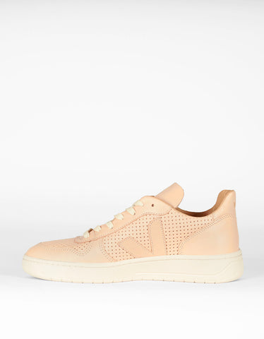 Veja Bastille V-10 Leather Sneaker Nude - Still Life - 2