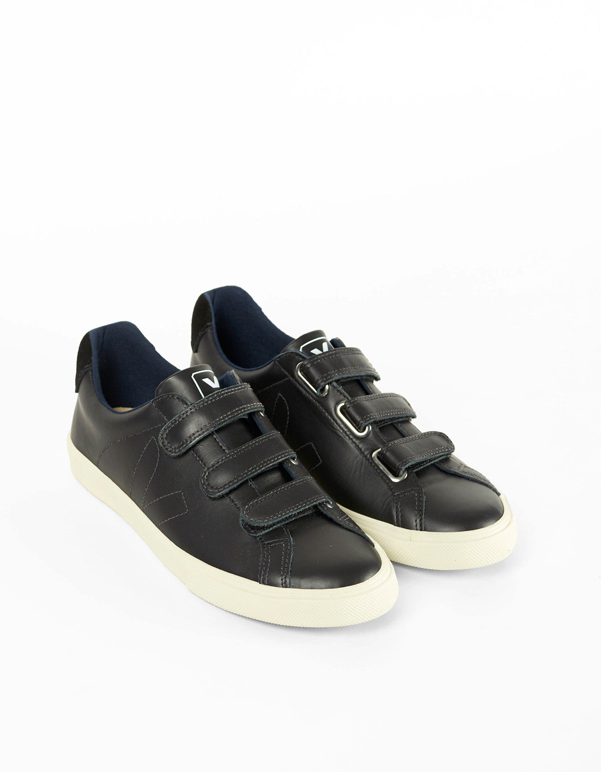 Veja Esplar 3 Locks Leather Sneaker Black Black - Still Life - 2