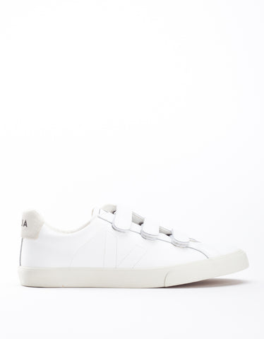 Veja Women's Esplar 3 Locks Leather Sneaker Extra White