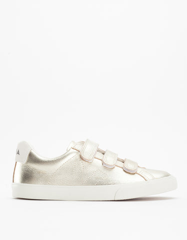 Veja Esplar 3 Locks Leather Sneaker Gold