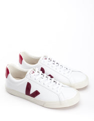 Veja Esplar Low Leather Sneaker Extra White Marsala