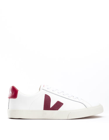 Veja Women's Esplar Low Leather Sneaker Extra White Marsala