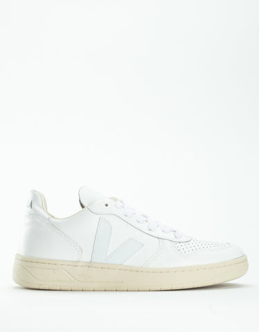 Veja V-10 Leather Sneaker Extra White