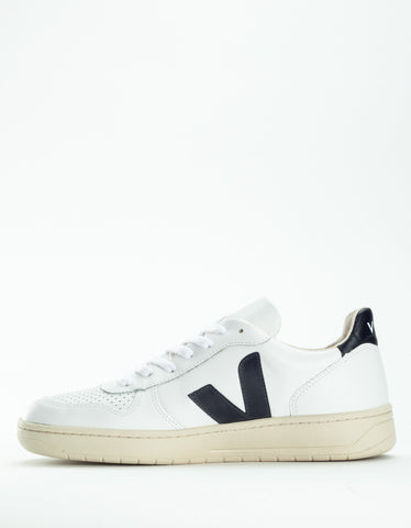 Veja V-10 Leather Sneaker Extra White Black