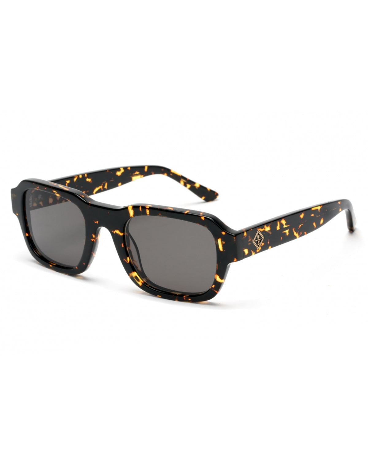 Wonderland Badlands Sunglasses, Yellow Tortoise, Green Carl Zeiss