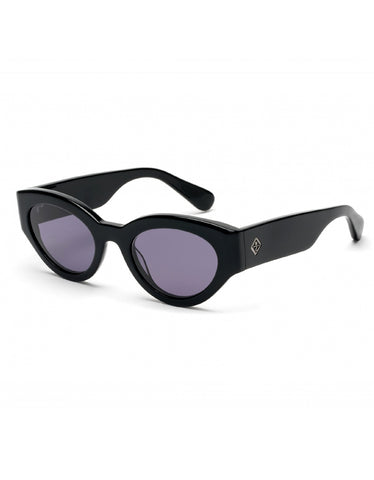 Wonderland Bombay Beach Sunglasses, Gloss Black Grey Carl Zeiss