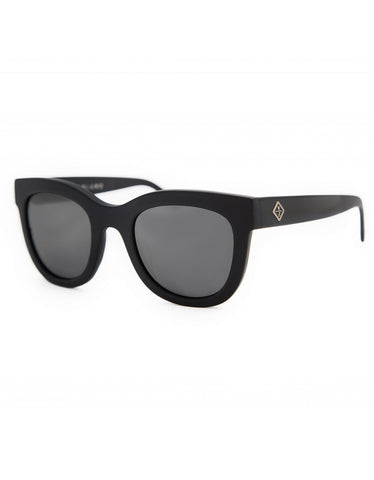 Wonderland Colony Sunglasses, Gloss Black, Grey Carl Zeiss