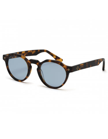 Wonderland Fontana Sunglasses Brown Tortoise Blue CZ