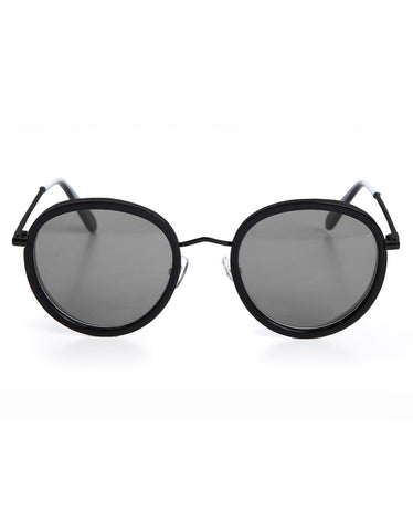 Wonderland Montclair Sunglasses Gloss Black Gray CZ