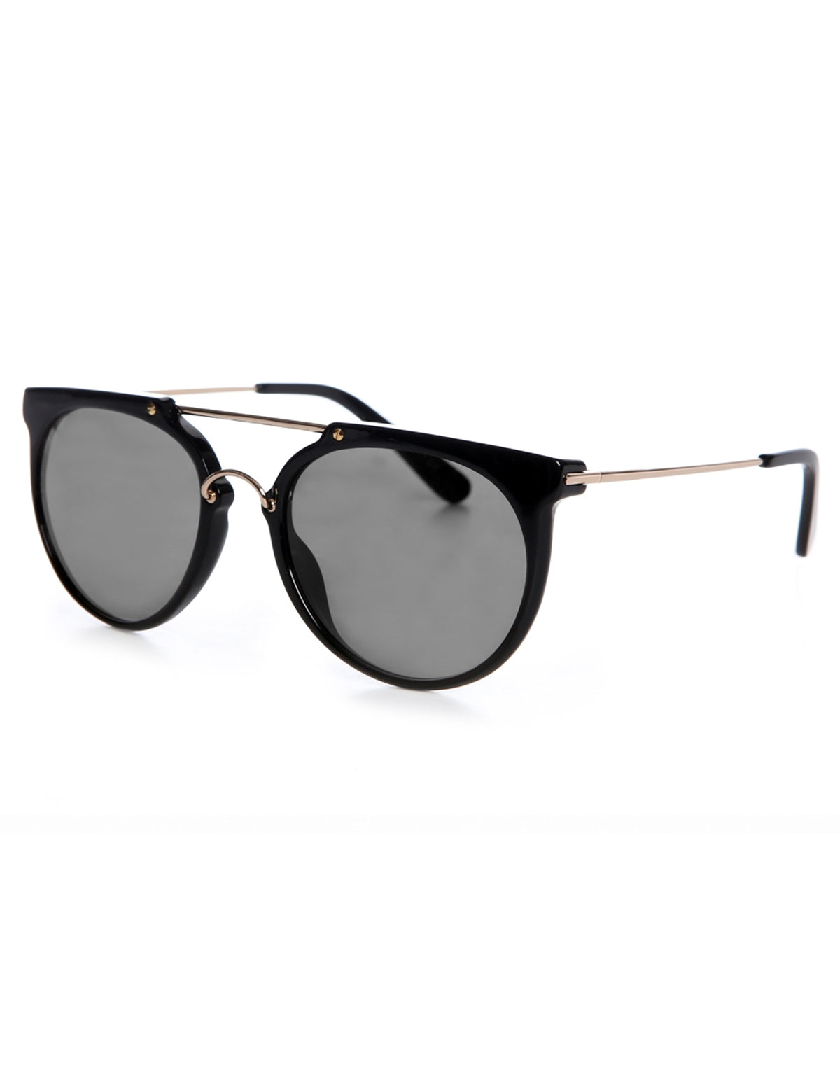 Wonderland Stateline Sunglasses Gloss Black Grey CZ