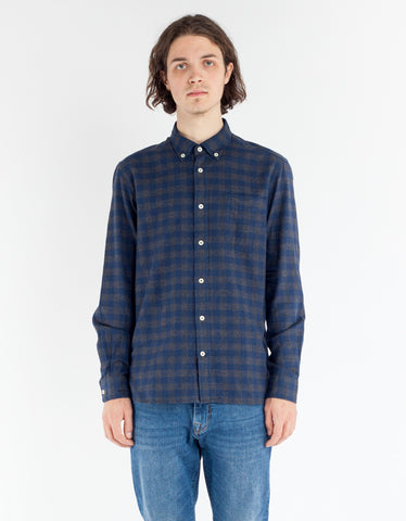 Woolrich Polar Flannel Shirt Charcoal Buffalo
