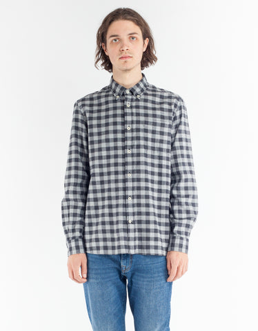 Woolrich Polar Flannel Shirt Grey Buffalo