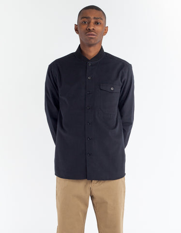 YMC Delinquents Rib Collar Shirt Black