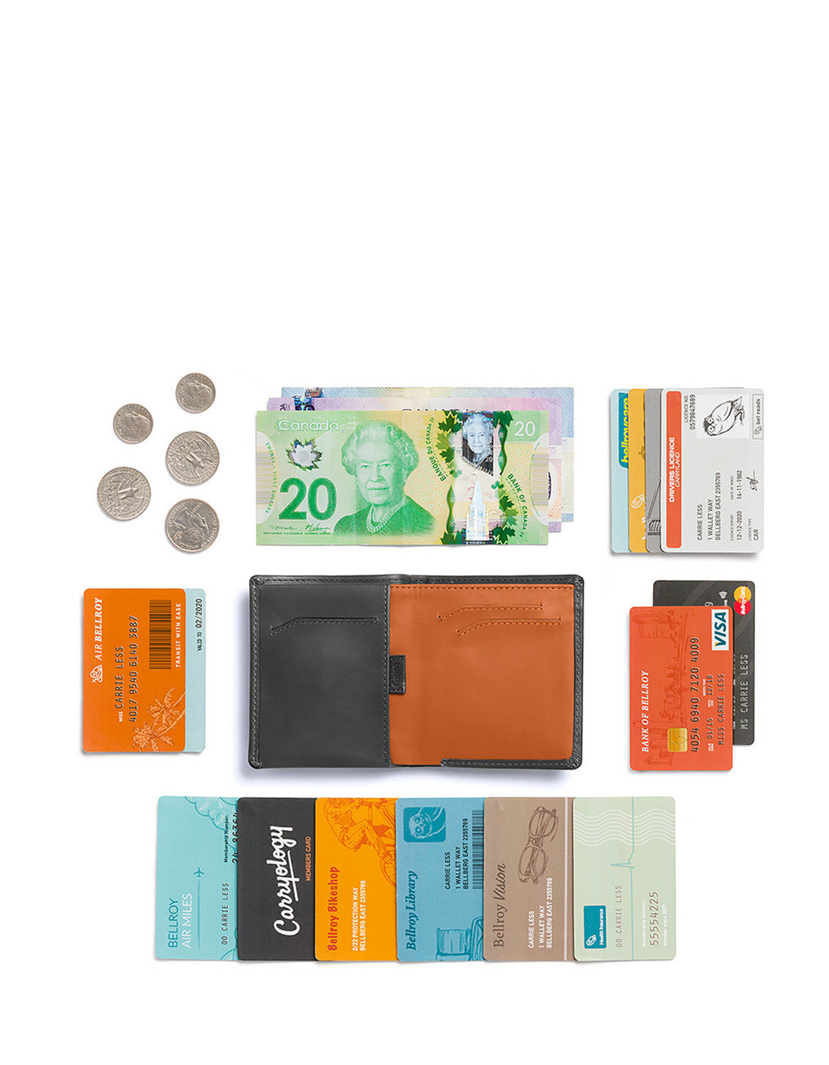 Bellroy Note Sleeve Wallet Charcoal - Still Life - 4