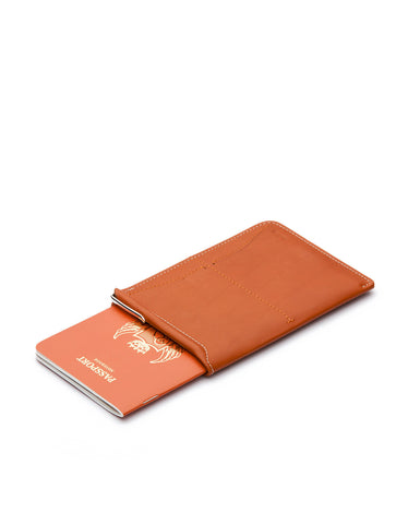 Bellroy Passport Sleeve Tan - Still Life - 1