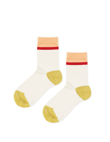 Hansel From Basel Top Stripe Crew Sock Ivory - Still Life