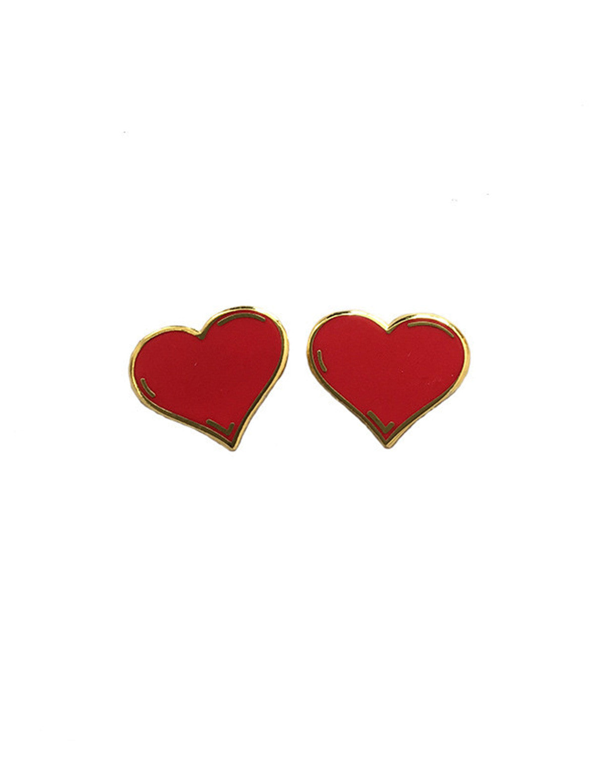 Explorer's Press Love Hearts Two Pack Lapel Pins Red - Still Life