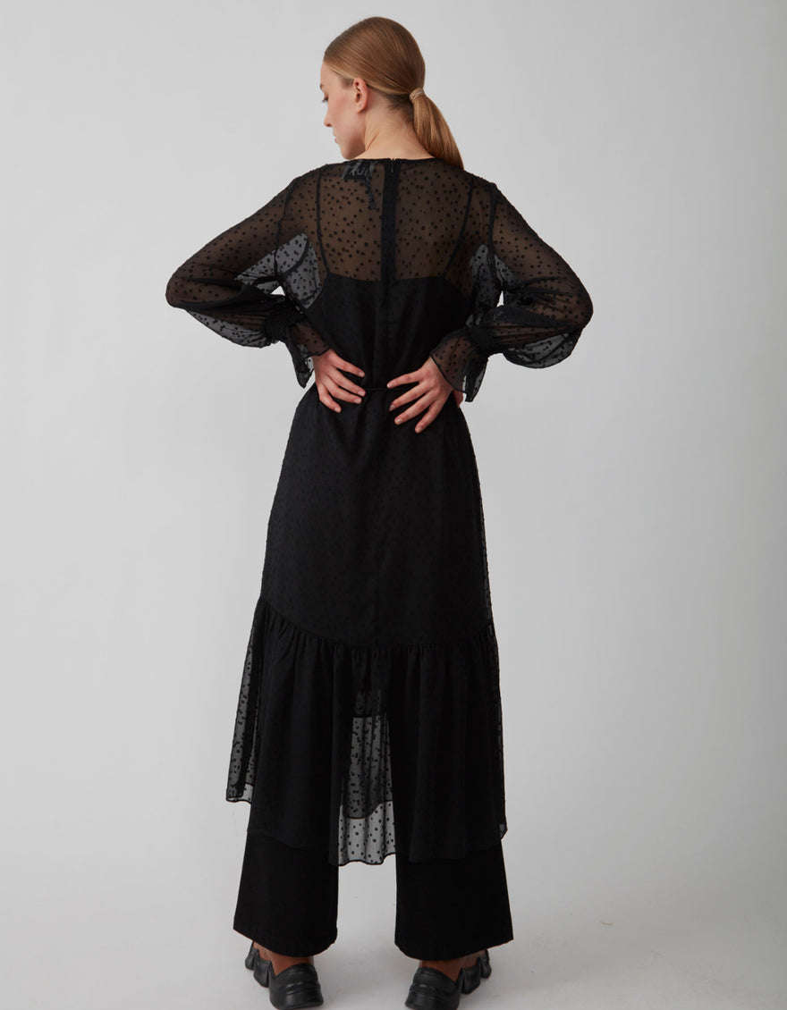 Just Female Lula Maxi Dress Black