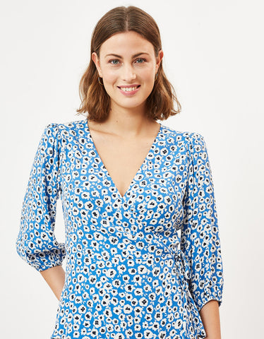Minimum Melany Wrap Top Palace Blue