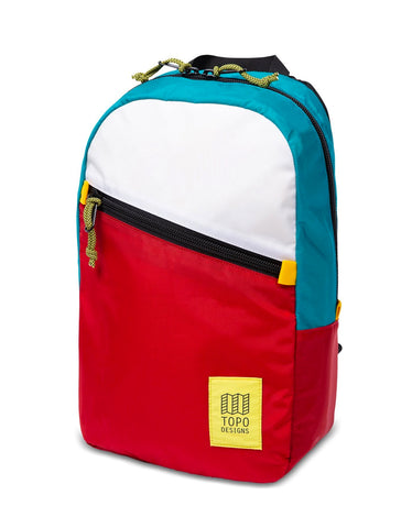 Topo Designs Light Pack White/Red/Turquoise