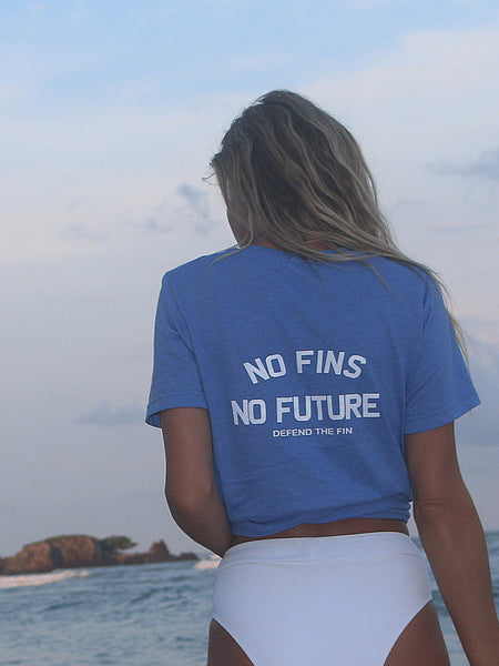 **NEW** Save Sharks - No Fins No Future - Defend the Fin Unisex Tshirt - Wilddtail