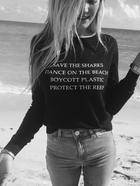Save the Sharks, Protect the Reef Sweater - Wilddtail
