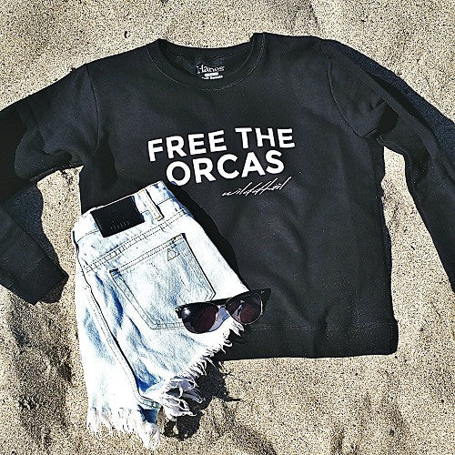 Free The Orcas - Wilddtail Women's Sweatshirt - Wilddtail